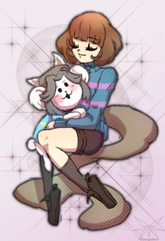 Frisk and Temmie by KasugaBee on DeviantArt