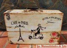 valijas antiguan con decoupage - Buscar con Google