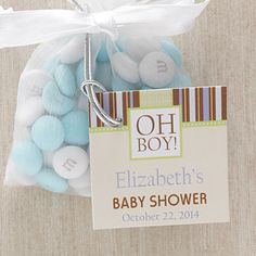 Create lasting memories with the Oh Boy! Baby Shower Party Favor Tag. Find the best personalized baby gifts at PersonalizationMall.com