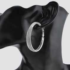 10k Gold /Sterling Sliver Hoop earrings by FashionCounter6 on Etsy