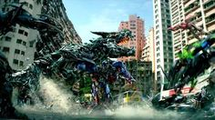 Exclusive Clip: 'Transformers: Age of Extinction' Modeled After Classic Westerns Most big-budget action movies require the efforts of an army of effects specialists (as anyone who's sat through the end-credits can tell you) — and that's especially true on a Michael Bay movie.  Hundreds of people are credited for the elaborate computer artistry in Transformers: Age of Extinction.  In this behind-the-scenes video, seen here first on Yahoo Movies, we get to see how dominating Dinobots were made…