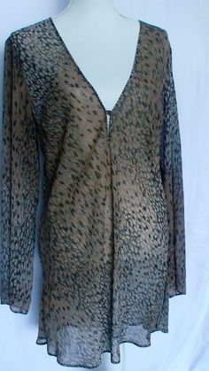 Victoria's Secret Sheer Animal Print Sleepshirt Size L Measurements Provided…