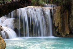 Kuang Xi Waterfall Laos: fuerst