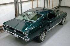 This is my dream car. 67 Fastback in green.