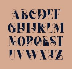 Decorative font style featuring different weights and contrasts. The circle feature to some letters is one constant in each letter ut somehow works when it is put all together. this may not read well when certain words are spelled.