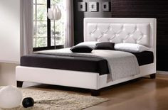 Italian Design New Lisa Double White PU Leather Wooden Bed Frame http://www.shopprice.com.au/wooden+bed+frame