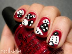 Katy Perry inspired nail art from Nailside: one of my favorite nail art blogs