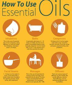 HOW TO USE CHART  Essential Oils #oils4eveyone