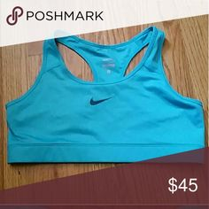 Nike pro light sky blue sports bra MAKE AN OFFER!! NWOT. Please look to bundle!!!! 25% OFF when you bundle! X Nike Intimates & Sleepwear Bras