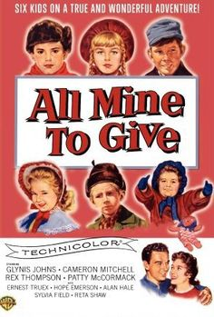 #1072. All Mine to Give, February, 2017. Jo and Robert Eunson have come from Scotland and are establish a home of Eureka, Wisconsin where they and their 6 children fit in quickly. Tragedy strikes however when Kirk contacts diphtheria. He recovers but patriarch Robert succumbs to the disease. Mother Jo works as a seamstress but dies of typhoid. On her deathbed, she asks the eldest, 12 year-old Robbie, to find good homes for all of the children which is does on Christmas day.