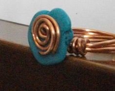 Spiral Wire Jewelry - Spiral Rose Wire Ring - made to order  - Free Shipping