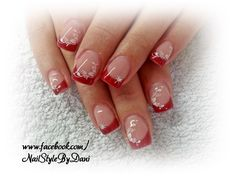 Romantic in red - www.facebook.com/NailStyleByDani
