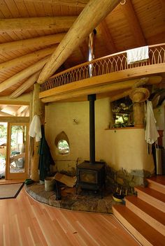 Fire Place In Cob House