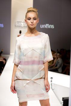 UNEINS SS15 runway, Berlin Fashion Week Berlin Fashion, Ss 15, Runway, Cold Shoulder Dress, Feminine, Spring Summer, Girls, Dresses, Style