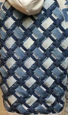 Woven denim strips?  Модная одежда и дизайн интерьера своими руками