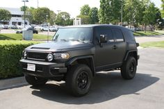 I am not a big SUV/Truck kind-of-guy, but this thing is *just awesome* -- Matte Black Vehicle Wrap on a Toyota FJ Cruiser by Iconography