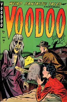 Digital Comic Museum Comic Viewer: Voodoo 001 [Baker art] - Voodoo 01 [1952-05.Ajax-Farrell]