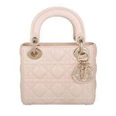 Christian Dior Tasche - Lady Dior Mini Rose Poudre - in rosa - Umhängetasche für Damen