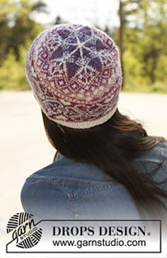 Ravelry: 142-5 Montreal - Hat with pattern in Delight and Fabel pattern by DROPS design