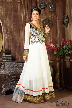 Off White Color Georgette Fabric suit