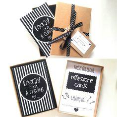 ALTERNATIVE MILESTONE CARDS MONOCHROME