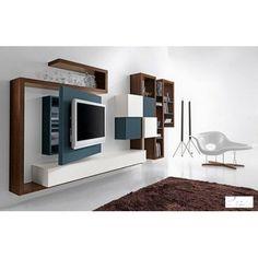 Mobile #soggiorno componibile #design moderno, in essenza o laccato ...