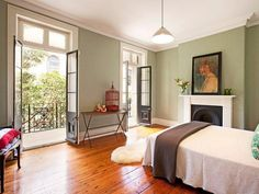 gorgeous sydney apartment. look at those floors! balcony!