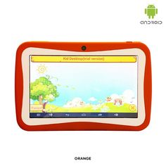"""6-Piece Set: Wopad Kids7 Google Android 4.4 Dual-Core 1GHz 4GB 7"""" Dual-Camera Tablet PC & Protective Cover - Assorted Colors"""
