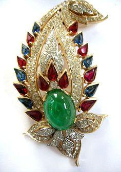 Magnificent Jewels of India  Vintage Trifari Brooch
