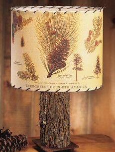 Pine Cone Lamp Shade - Whispering Pines Catalog