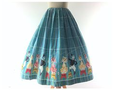 Circus dress 1960s dress circus skirt 1960s skirt 50s