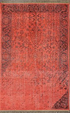 Rugs USA Jasmine FR3 Red Rug. Rugs USA Summer Sale up to 80% Off! Area rug, carpet, design, style, home decor, interior design, pattern, trend, statement, summer, cozy, sale, discount, free shipping.