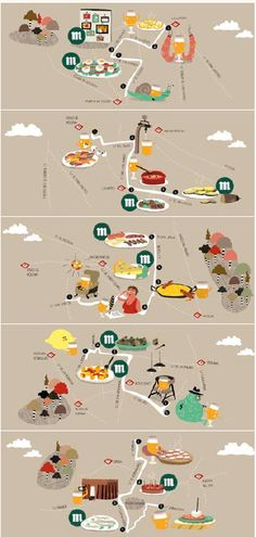 TO EAT THROUGH | Madrid tapas map will show the way | from 'Femme Fatales of Cartography' | The Atlantic Cities | http://www.theatlanticcities.com/design/2013/03/femme-fatales-cartography/4987