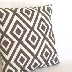 SALE Grey Pillow Cover  Designer Geometric by PureHomeAccents, $25.00
