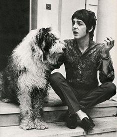 Sir Paul McCartney with Martha.