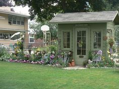 Wowie gardens and super cute little shed.