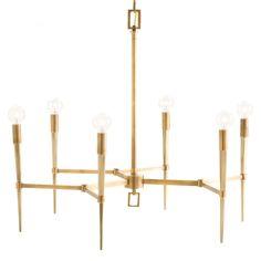 Arteriors Auburn Antique Brass Chandelier @Zinc_Door