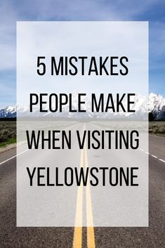 5 Mistakes People Make When Visiting Yellowstone Yellowstone is a beautiful National Park that is a perfect family vacation destination. This article will help you pack, what apps you need for your trip and places in Yellowstone you don't want to miss! Yellowstone Nationalpark, Visit Yellowstone, Yellowstone Vacation, Yellowstone Park, Wyoming Vacation, Us National Parks, Grand Teton National Park, Family Vacation Destinations, Vacation Ideas