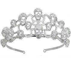 EVER FAITH Halloween Skull Hair Band Clear Austrian Crystal ** For more information, visit image link.