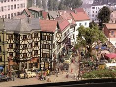 """Abendstern is a scale model railway I am building. The events and locations are a """"could have been"""" in Germany……. Estilo Tudor, Tudor Cottage, Military Diorama, Model Train Layouts, Model Building, Model Homes, Model Trains, Scale Models, Model Railroader"""