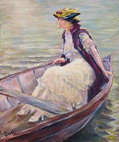 Edward Cucuel Woman On A Boat
