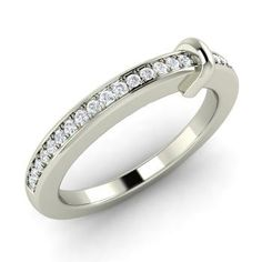 Cardinal Ring with Round SI Diamond | 0.13 carat Round SI Diamond   Wedding  in 14k White Gold | Diamondere