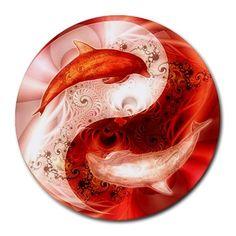 Yin-Yang: a somewhat misshapen clockwise taijitu with dolphins as th dot elements. Note the yin elementary an extended tail and the shorter yang bends inward. Jing Y Jang, Feng Shui, Wicca, Yin Yang Balance, Yin Yang Art, Chinese Philosophy, Yin Yang Tattoos, Delphine, Visionary Art