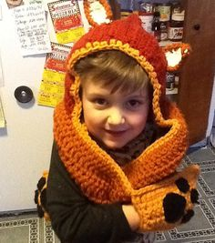 Child Foxy Scoodie by karenswimmer on Etsy, $40.00  Wear while reading Fantastic, Mr. Fox!