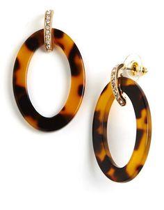 Lauren RL Tortoise Shell Hoop Earrings. Great price!! | Lord & Taylor