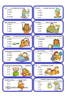 Present simple and Routine Speaking Cards worksheet - Free ESL printable worksheets made by teachers Learning English For Kids, English Lessons For Kids, Kids English, Teaching English, Learn English, Grammar Practice, Grammar Lessons, English Worksheets For Kids, English Activities