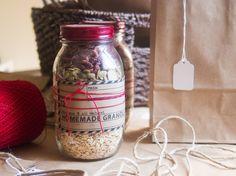 DIY Granola Gift Kit in a Mason Jar for by BlissfulLittleBee,
