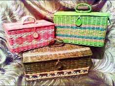 ▬► Как плести сундучок из газетных трубочек - II / How to weave paper Chest krabičky s víky