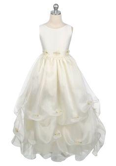 Yarn Ruffle Round Neck Flower Girl Dresses