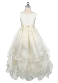 Yarn Ruffle Round Neck Flower Girl Dresses